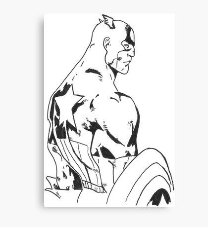 Captain america marvel comics Canvas Print