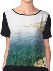 Ocean Landscape Chiffon Top