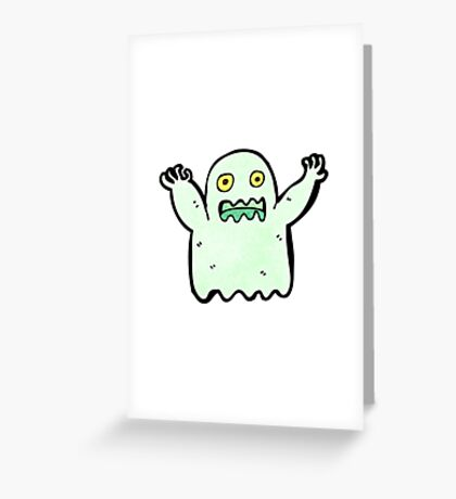 cartoon ghost Greeting Card