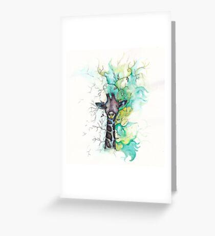 Rainbow Giraffe Greeting Card