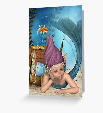 Bored Merbaby Greeting Card