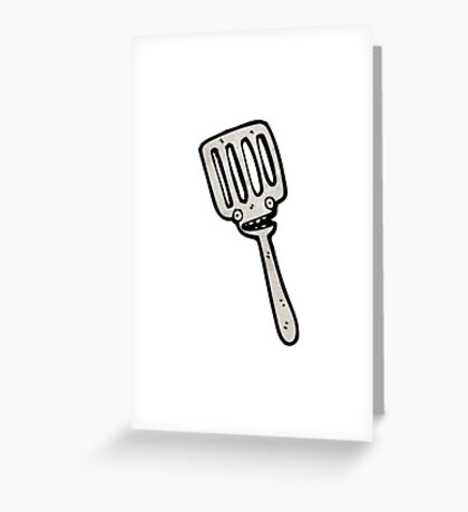 cartoon spatula Greeting Card