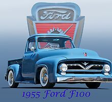 1955 Ford F100 Pickup  by DaveKoontz