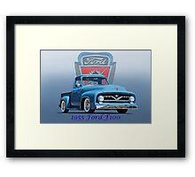 1955 Ford F100 Pickup  Framed Print