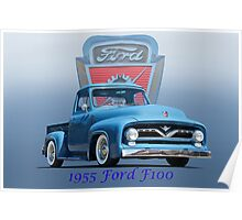 1955 Ford F100 Pickup  Poster