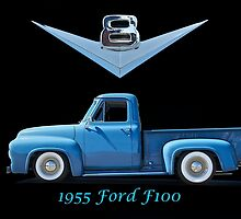 1955 Ford F100 V8 Pickup in Profile by DaveKoontz