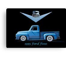 1955 Ford F100 V8 Pickup in Profile Canvas Print