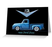 1955 Ford F100 V8 Pickup in Profile Greeting Card