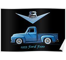 1955 Ford F100 V8 Pickup in Profile Poster