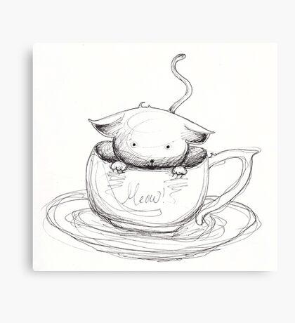 Cuppa Kitty Canvas Print