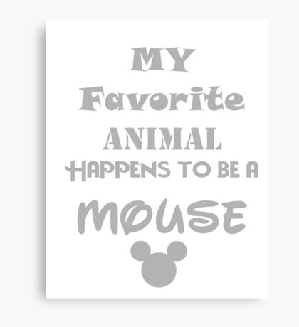 Favorite Animal Canvas Print