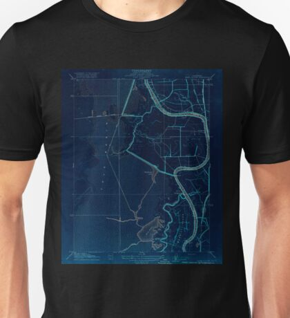 USGS TOPO Map California CA Babel Slough 295916 1916 31680 geo Inverted Unisex T-Shirt