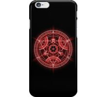 Human Transmutation Circle - Red iPhone Case/Skin