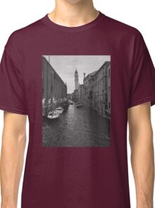 Venice, Italy canal in black and white Classic T-Shirt