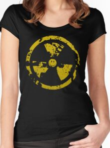 Nuclear smile : ) Women's Fitted Scoop T-Shirt