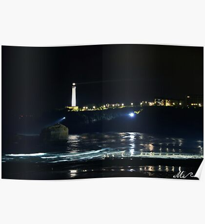 Biarritz by night Poster