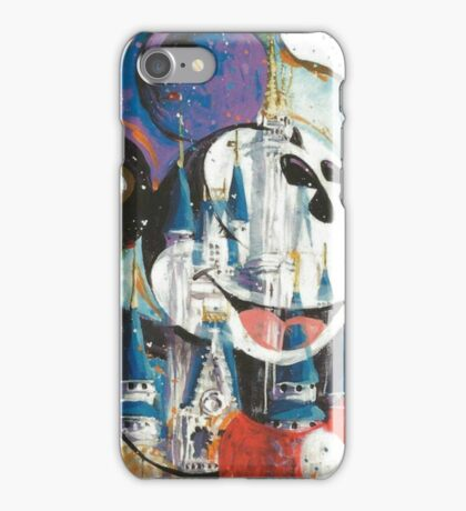 Mickey mouse and Disney castle  iPhone Case/Skin
