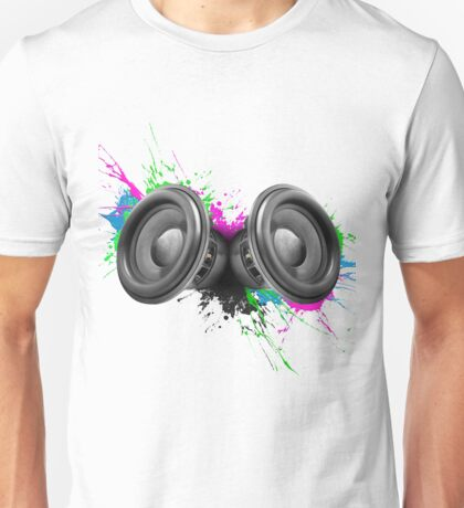 Music speakers colorful design Unisex T-Shirt