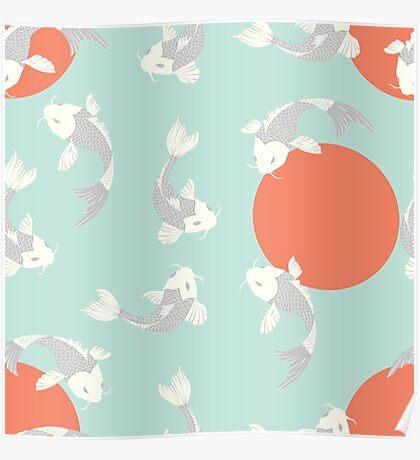 Koi fish pattern 005 Poster