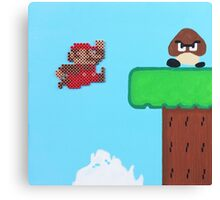 Super Mario Bros. NES (Paint 'n' Beads) Canvas Print