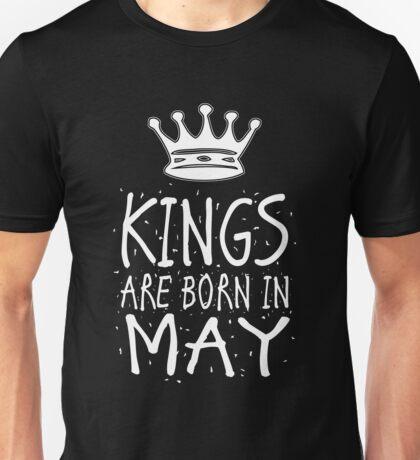 Kings Are Born In May Birthday Gift Shirt Christmas Cute Funny Taurus Gemini Zodiac Unisex T-Shirt