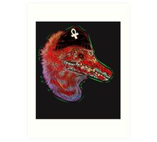 Punk Raptor Art Print
