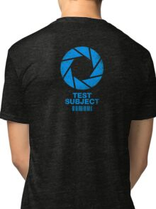 Test Subject -blue- Tri-blend T-Shirt