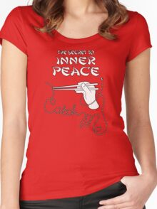 The secret to inner peace Women's Fitted Scoop T-Shirt