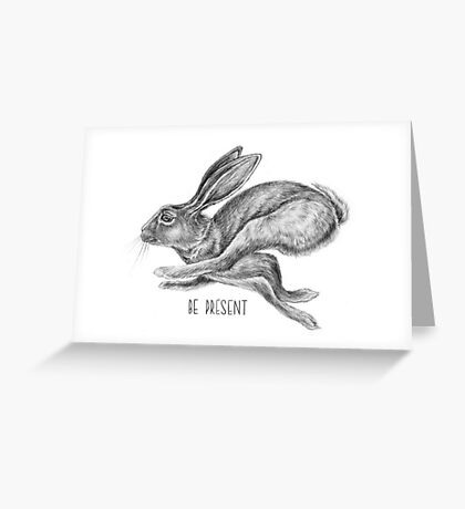 Hare and Quote by Magda Opoka Greeting Card