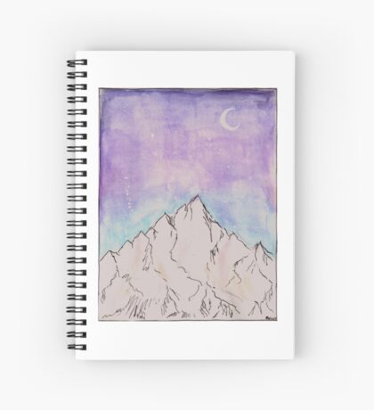 On the top of the highest mountain Spiral Notebook