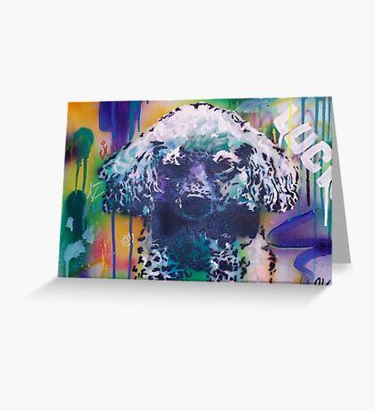 Poodle Greeting Card