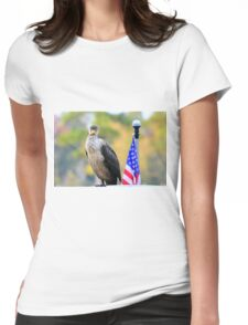 Cormorant Standing Proud Womens Fitted T-Shirt