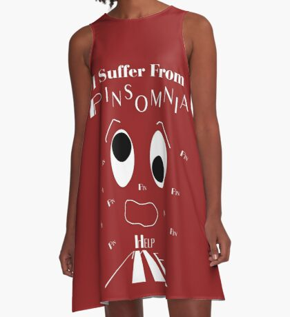 Pinsomnia Sufferer A-Line Dress