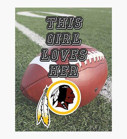 Redskins Love Photographic Print
