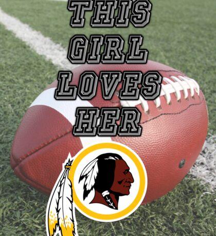Redskins Love Sticker