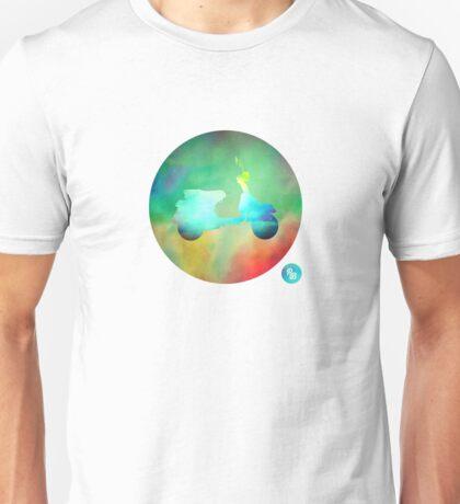 Vespa PX125 - Colour on White Unisex T-Shirt