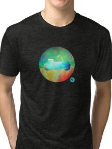 Vespa Paperino - Colour on Black Tri-blend T-Shirt