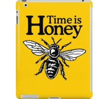 Time Is Honey Beekeeper Quote Design iPad Case/Skin