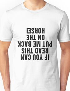 Equestrian Funny Horse Unisex T-Shirt