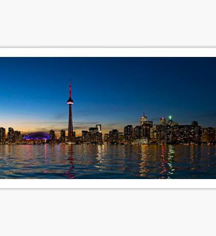 Toronto Skyline at dusk Sticker