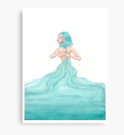 Soaked Through Canvas Print