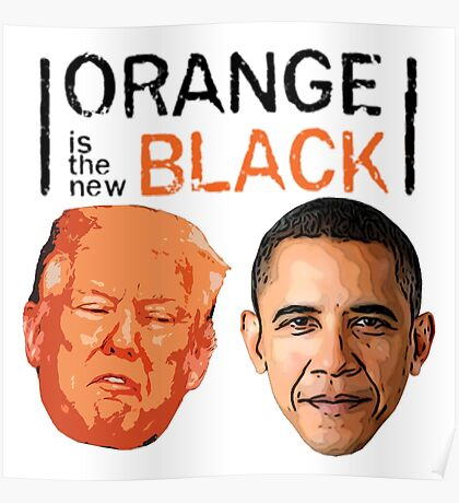 Trump and Obama orange is the new black Poster