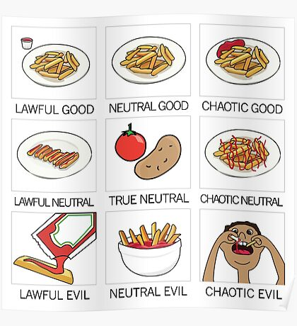 ketchup and fries alignment system Poster