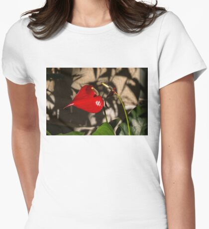 A Glossy Heart Flower for My Valentine Womens Fitted T-Shirt
