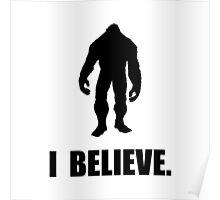 I Believe In Bigfoot Poster