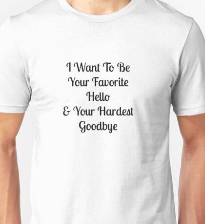Favorite Hello Unisex T-Shirt
