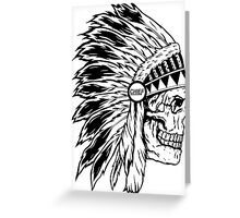 Chief Headress Greeting Card