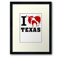 I Heart Texas Framed Print