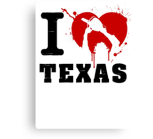 I Heart Texas Canvas Print