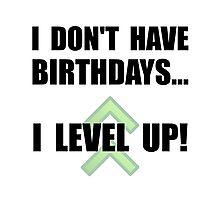 Level Up Birthday Photographic Print